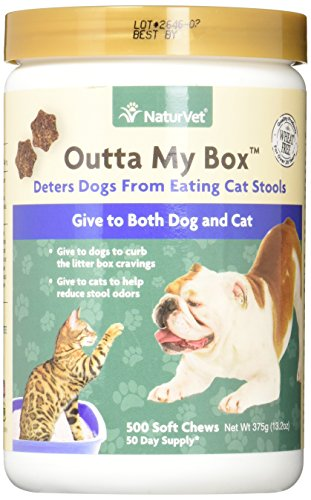 NaturVet Outta My Box Cat Stool Deterrant for Dogs and Cats (500 Soft Chews) 1