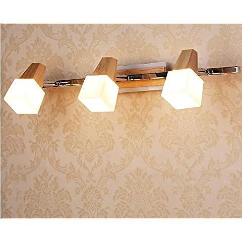 FEI&S specchio da parete lampada frontale lampada al posto letto camera da letto specchio-lampada minimalista in stile salotto lampada da parete #16B