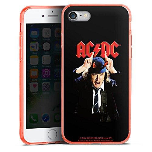 Apple iPhone 8 Silikon Hülle Case Schutzhülle ACDC Merchandise Fanartikel Riverplate Silikon Colour Case neon-orange