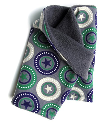 Lana pollo caldo foulard, sciarpa in grigio con coolen stelle per ragazzi e ragazze, interno in pile, 20141126