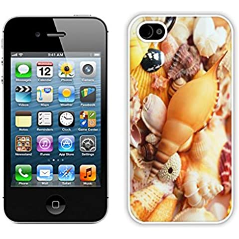Fashion Conch Cameo Shell Design Apple iPhone 4s Case White Mobile Phone Back Hard Cover for iPhone 4