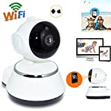 Noza Tec Wireless Camera, Pan Tilt HD 720P Security Network CCTV IP Camera Night Vision WIFI IR Baby Monitor Home Office Support Remote Playback Motion Detection Memory Max 64GB
