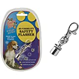 Playful Pets Hi-visibility Safety Flasher Pet Dog Cat Light Collar Lead Accessory Walking Petcare