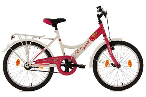 KS Cycling Kinderfahrrad 20'' Cherry Heart weiß-pink RH 36 cm