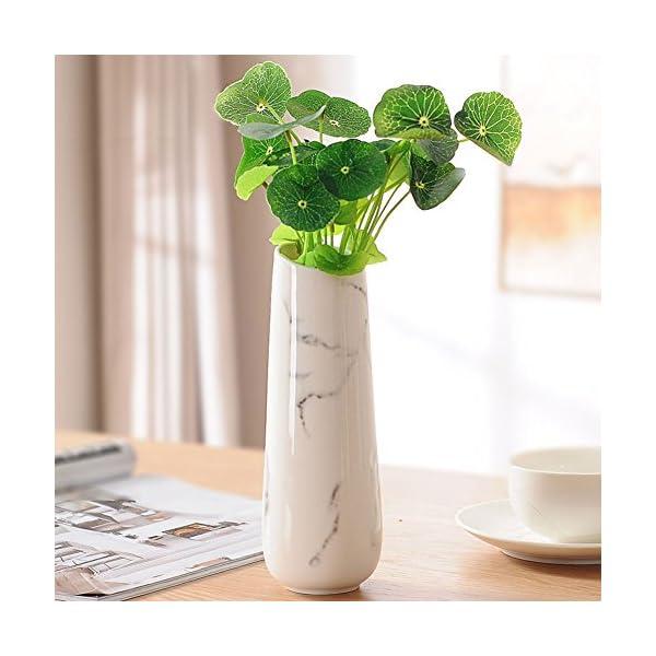 Tincogo Jarrones de cerámica Blanca Elegante diseño para la decoración casera Blanco