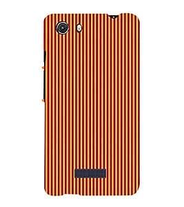 Fiobs Designer Back Case Cover for Micromax Unite 3 Q372 :: Micromax Q372 Unite 3 (Multicolor Line Ethnic Design)