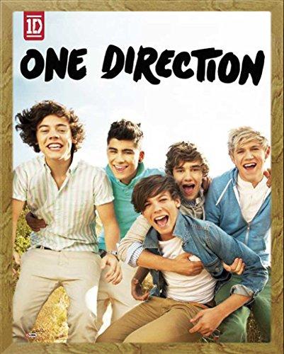 empireposter - One Direction - Album - Größe (cm), ca. 40x50 - Mini-Poster + Wechselrahmen der Marke Shinsuke Mini aus schwerem MDF Holzfaserwerkstoff, Eiche - mit Acrylglas-Scheibe.