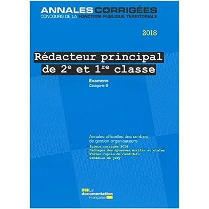 Rédacteur principal de 2e et 1re classe : Examens d'avancement de grade et de promotion interne, catégorie B
