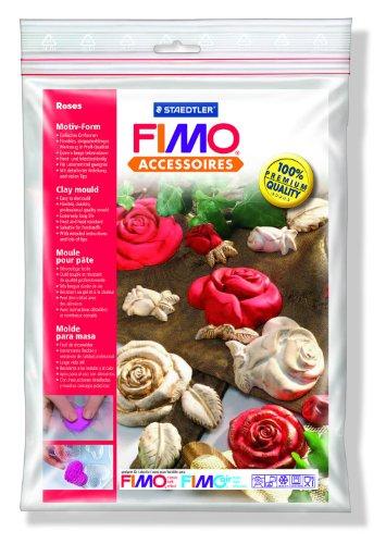 Staedtler-8742-36-MotivForm-Rosen-Fimo-Accessoires-einfaches-Entformen-Lebensmittelkompatibel-Frost-und-hitzebestndig-extrem-lange-Lebensdauer-mit-detaillierter-Anleitung