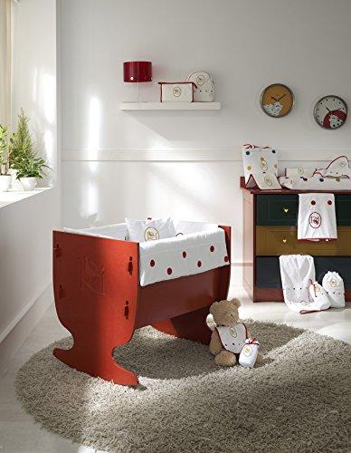 Rosabel Davis- Mini cot, 78x80x9 cm, colour red COLECCIÓN ROSABEL rocking mini cot, 78 x 75 x 65 cm ,made in Spain ,easy assembly Cot   rocking mini cot Spanish quality and design 2