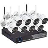 Active Pixel 1080P 2MP Auto-Pair Wireless System 8 Channel HD NVR kit 8 2MP HD Outdoor/Indoor IP66 Waterproof IP Security Bul