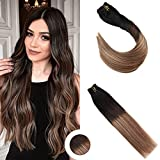 Ugeat 10pcs Balayage Color Extensions Clip in Echthaar 16