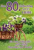 A4 Geburtstagskarte Zum 80. Geburtstag Glück Gesundheit Freude