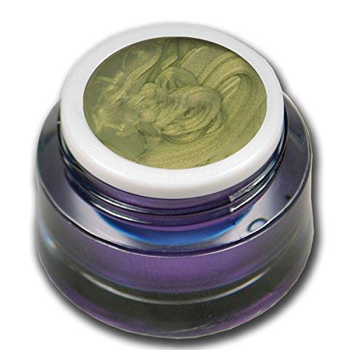 RM Beautynails Premium Metallic UV Farbgel Olive 5ml UV-Gel Grün Profifarbgel kein absenken der Pigmente sehr hohe Deckkraft