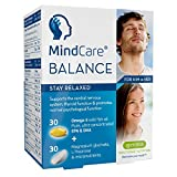 MindCare BALANCE, Natural Anxiety & Stress Relief Capsules, L-Theanine, Magnesium, Omega-3 & B