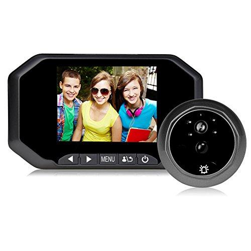 Rosepoem videocamere per campanello con visore hd 3,5 pollici, visore notturno a 120 gradi per campanello per casa - nero