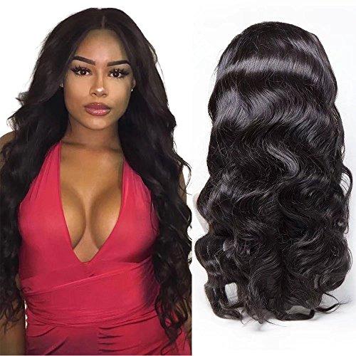 Maxine 360fronthaar Perücke Gap mit Baby Hair Body Wave Brazilian Virgin Haar 100% unverarbeitetem Echthaar Perücken für schwarz Frauen 180% Dichte