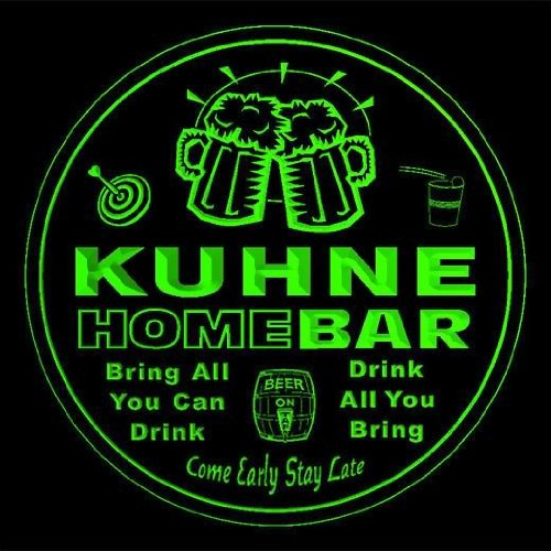 4x-ccq24675-g-kuhne-family-name-home-bar-pub-beer-club-gift-3d-coasters