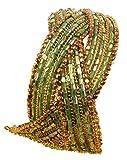 Touchstone - Brazalete para Mujer con diseño de Bola India de latón y Cristal, Color Dorado Envejecido