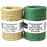 Papel de alambre rollo, (0,40mm de diámetro, longitud: 205m, (Varios. Colores Elegible)