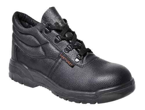 Portwest Mens Steelite Protector S1P Safety Boot Shoes FW10 Black 9 UK, 43 EU