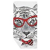 DIYthinker Gafas de Tigre Animal baño Hermoso Toalla Suave paño de Facecloth 35X70Cm