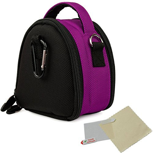 VG Mini Laurel Edition Camera Carrying Handbag (Plum Purple) for Samsung WB30F / DV150F / ST150F / ST76 / ST200F / ST66 / DV300F / MV800 / ST93 / ST90 / ST65 / ST30 / ST95 / ST700 / PL170 / PL210 / PL120 / WB210 / SH100 / WB700 / PL200 / TL350 / WB2000 / AQ100 / WP10 / TL210 / PL150 / TL205 / PL100 / ST80 / ST100 / TL225 / ST550 / CL5 / PL10 / SL202 / PL50 / SL30 / ES15 / SL102 / ES55 Point &  available at amazon for Rs.1858