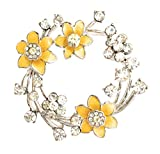 Equilibrium Radiant Daffodil Round Brooch 279412
