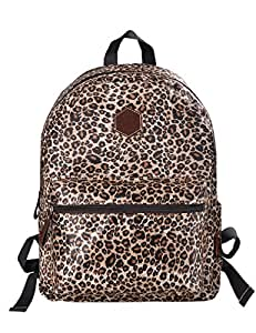 douguyan damen schicke rucksack aufdruck rucksack e00133c braun leopardenfell muster. Black Bedroom Furniture Sets. Home Design Ideas