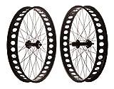 FK Cycling Pareja Ruedas fatbike, 8-10V, Aluminio, bujes Sellado 170/135.