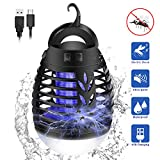 KINGWILL Electric Insect Killer Tent Camping Lights, 2-In-1 Portable USB Rechargeable Bug Fly