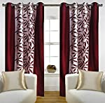 Set of 2 door curtains give a contemporary look to your home décor.