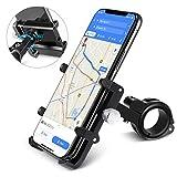 Handy Halterung von HOMEASY Fahrradhalterung Motorrad Handy-Halter Universal Handyhalterung 360° Drehbare Radsport Verhütung GPS Halter (Schwarz)