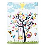 Kinder Teppich Moda Öko Tex Baum Creme Bunte Farben Verschiedene Größen 190x280 cm
