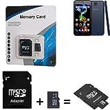 K-S-Trade für Archos 50c Platinum SDHC Micro SD Karte + SD-Karten-Adapter 2in1 Flash Speicherkarte 16GB Klasse 10 Class 10 C10 V10 U1 SDHC HC Higspeed Memorycard Speicherkarte 10MB/sek für Archos 50c Platinum