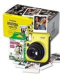 Fujifilm Instax Mini 70 Instant Camera with 10 Shots Yellow