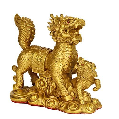 Estatuas Adornos Unicornio Cobre Puro Adornos Chinos