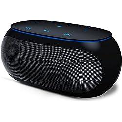 Enceinte Bluetooth,HiFi Stéréo sans Fil Portable Caisson Bluetooth 4.2 Haut-Parleur avec Universel Support,Compatible Android iOS et Autres Appareils(Renforcée Basse,Mains Libres Téléphone)