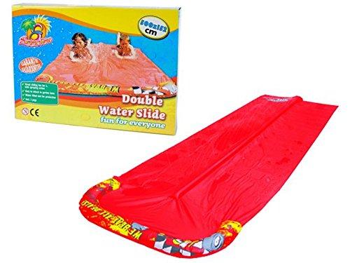 Doppelwasserrutsche für Kinder Kinderrutsche 5 Meter Lang -