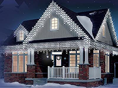 600 Led Christmas Snowing Icicle Lights For Indoor/outdoor Use By Gardenmile