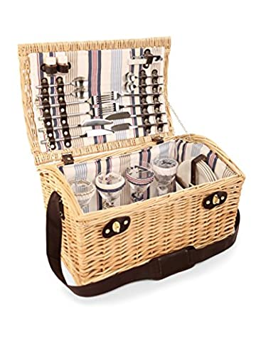 Greenfield Collection Oxford Willow Picnic Hamper for Four