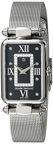 Claude Bernard Women's 20503 3 NPN1 Dress Code Analog Display Swiss Quartz Silver Watch