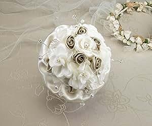 Taupe Rose Bouquet. ein ideales Geschenk für eine Hochzeit, Motiv für baby shower, Geburtstag oder Jahrestag