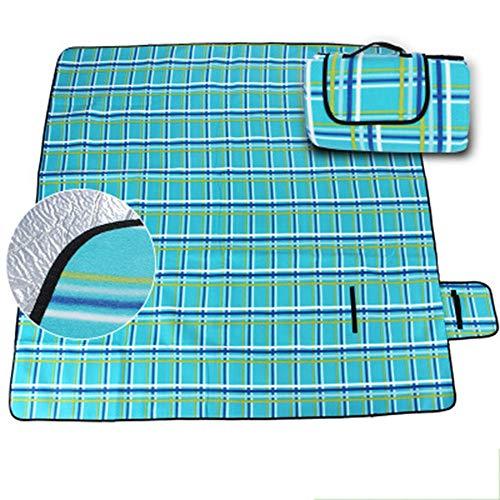 Pessica Wasserdichte und feuchtigkeitsfeste Picknickmatte für den Außenbereich Einseitige Oxford-Picknickmatte aus Samt,200cm*200cm