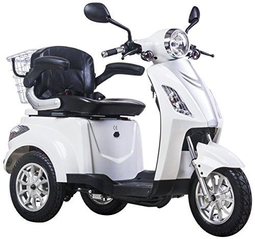 NUOVO 3 ruote Elektromobil Scooter elettrico, Scooter per anziani, disabili, Senior Display digitale 900W ZT-15E (BIANCO)