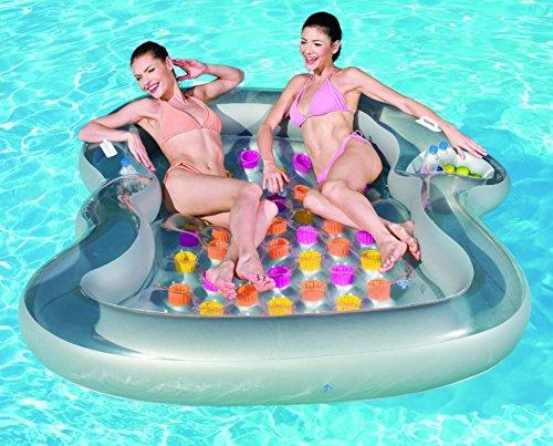 Besway 43045eu - materassino gonfiabile matrimoniale per piscina bestway