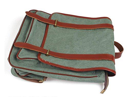 Outdoor peak Vintage Canvas Rucksack Retro Rucksack Vintage Damen oder Herren Rucksack für Outdoor Sports / Reise / Schule /Freizeit Rucksack Armeegrün