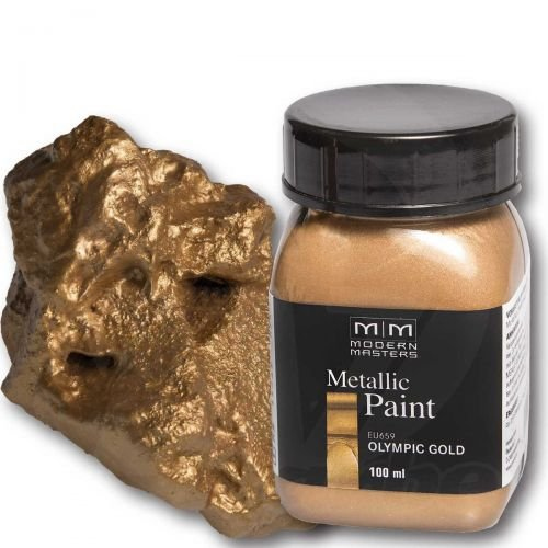 Olympic Gold Metallic Paint 100ml Modern Masters Metalleffektfarbe Metallfarbe -