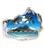 Wandbild Sticker 3D mix Foto Tapete Wandtattoo ca. 125x100 cm #1542 Bora Bora