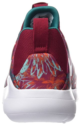 Nike Wmns Kaishi 2.0 Print, Chaussures de Running Entrainement Fille Blanc-Rouge-Vert